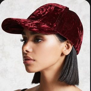 FREE HAT W BUNDLE Crushed Velvet Baseball Cap
